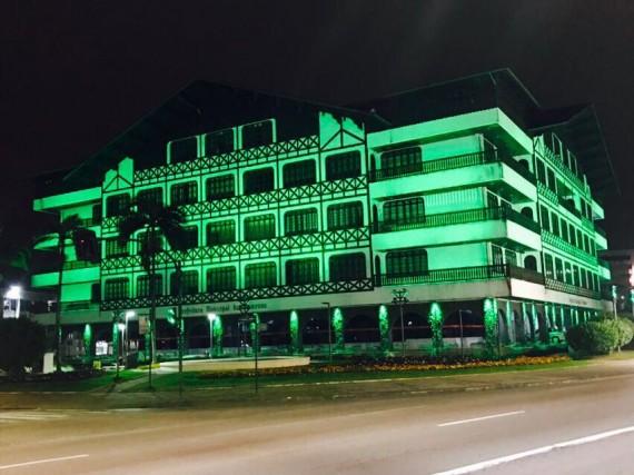 Símbolos de Santa Catarina coloridos para o Setembro Verde