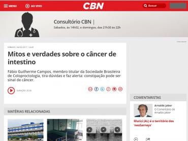 Entrevista Rádio CBN – Dia Mundial do Câncer